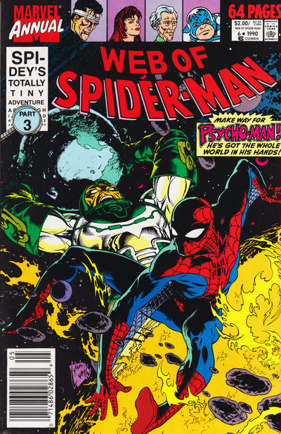 Cover for Web of Spider-Man Annual (Marvel, 1985 series) #6 [Newsstand]
