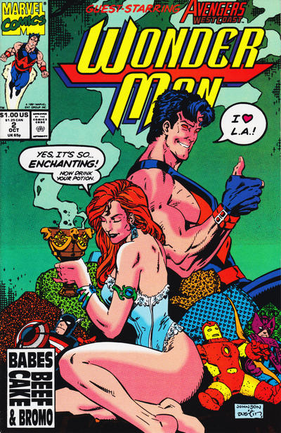 Cover for Wonder Man (Marvel, 1991 series) #2 [Direct]