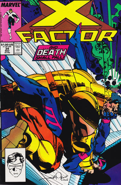 Cover for X-Factor (Marvel, 1986 series) #34 [Newsstand Edition]