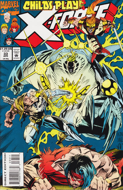 Cover for X-Force (Marvel, 1991 series) #33 [Newsstand]