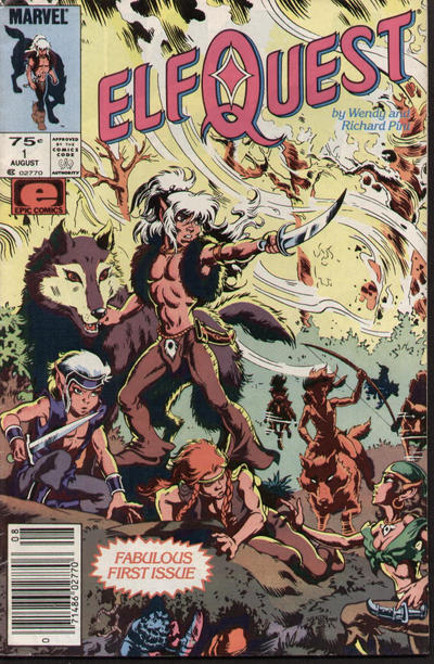 Cover for ElfQuest (Marvel, 1985 series) #1 [Newsstand]