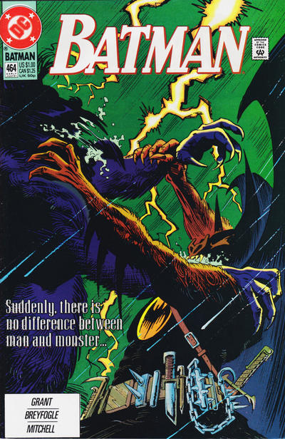 Cover for Batman (DC, 1940 series) #464 [Newsstand]