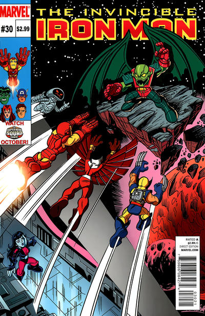 Cover for Invincible Iron Man (Marvel, 2008 series) #30 [Super Hero Squad Variant Edition]
