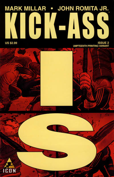 Cover for Kick-Ass (Marvel, 2008 series) #2 [Umpteenth Printing Variant]