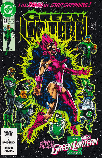 Cover for Green Lantern (DC, 1990 series) #24 [Newsstand]