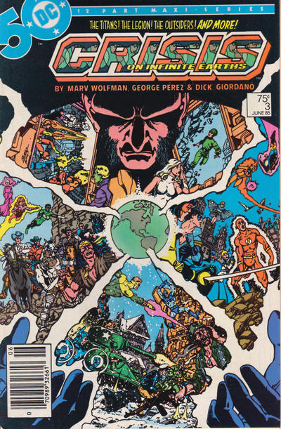 Cover for Crisis on Infinite Earths (DC, 1985 series) #3 [Direct Sales]