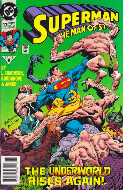 Cover for Superman: The Man of Steel (DC, 1991 series) #17 [Direct Edition]