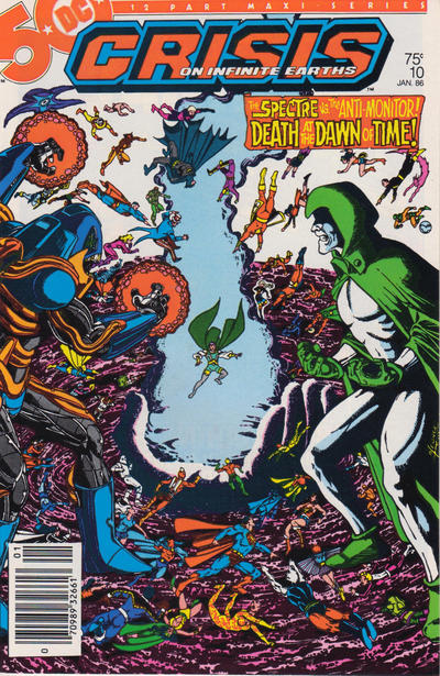 Cover for Crisis on Infinite Earths (DC, 1985 series) #10 [Direct Sales]