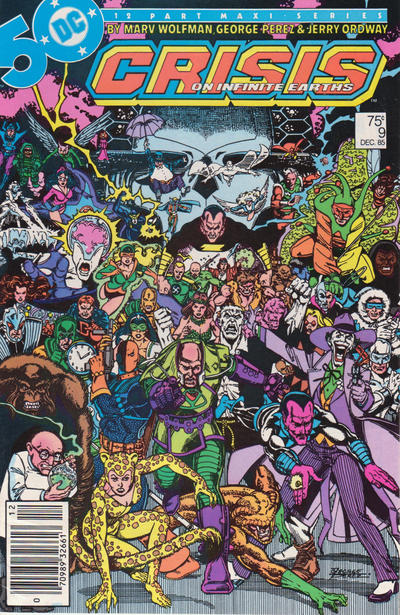 Cover for Crisis on Infinite Earths (DC, 1985 series) #9 [Direct Sales]