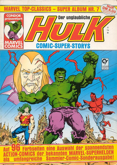 Cover for Marvel Top-Classics (Condor, 1980 series) #7