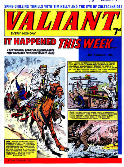 Cover for Valiant (IPC, 1964 series) #21 August 1965