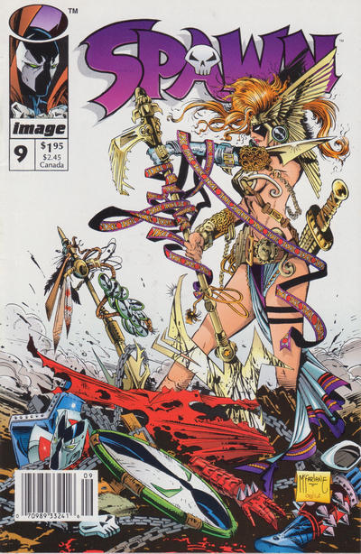 Cover for Spawn (Image, 1992 series) #9 [Newsstand Edition]