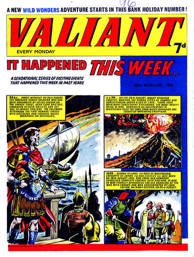 Cover for Valiant (IPC, 1964 series) #28 August 1965