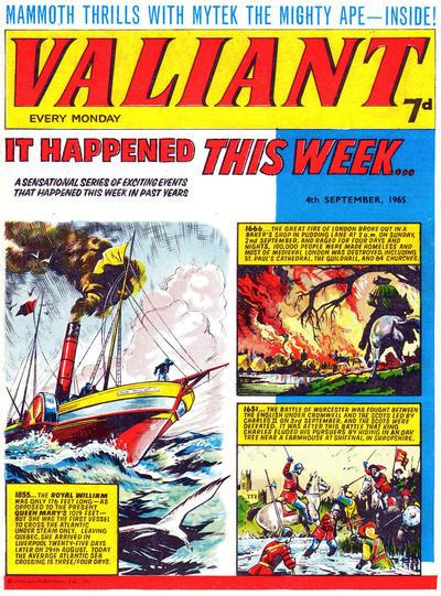 Cover for Valiant (IPC, 1964 series) #4 September 1965