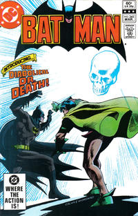 Cover Thumbnail for Batman (DC, 1940 series) #345 [Direct]