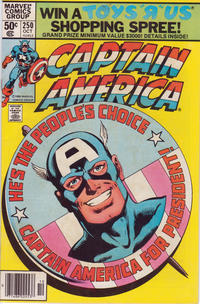 Cover Thumbnail for Captain America (Marvel, 1968 series) #250 [Newsstand Edition]