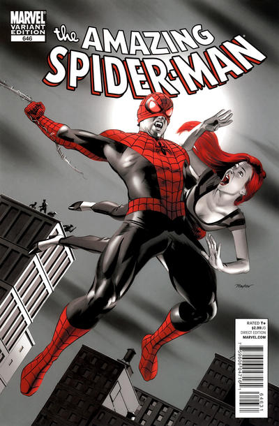 Cover for The Amazing Spider-Man (Marvel, 1999 series) #646 [Paolo Rivera Variant Cover]