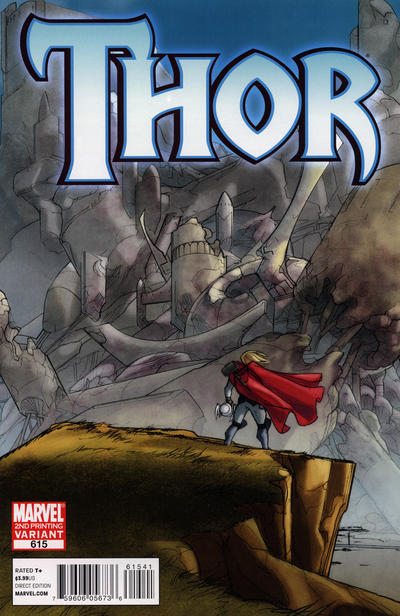 Cover for Thor (Marvel, 2007 series) #615 [Second Printing]