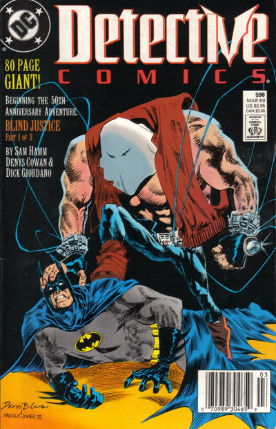 Cover for Detective Comics (DC, 1937 series) #598 [Direct]
