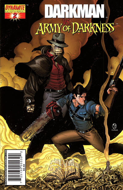Cover for Darkman vs. The Army of Darkness (Dynamite Entertainment, 2006 series) #2 [George Pérez Negative Art Retailer Incentive Variant Cover]