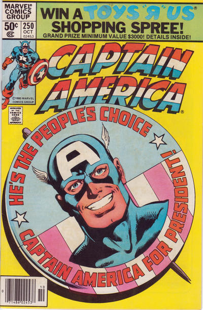 Cover for Captain America (Marvel, 1968 series) #250 [Direct Edition]