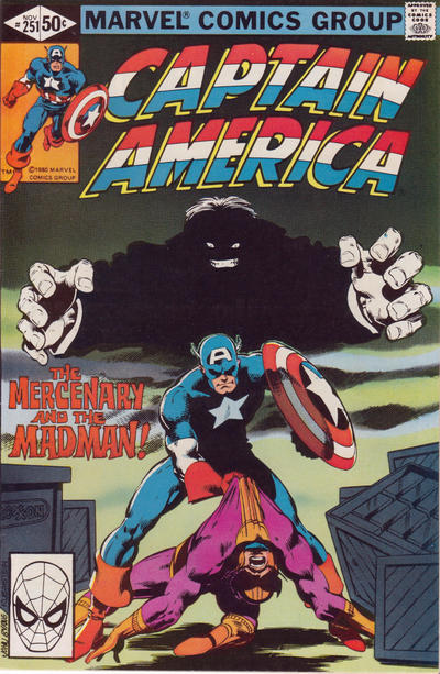 Cover for Captain America (Marvel, 1968 series) #251 [Direct Edition]