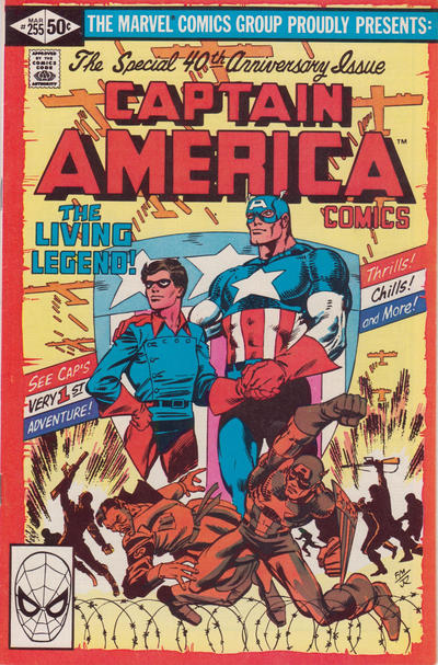 Cover for Captain America (Marvel, 1968 series) #255 [Direct Edition]