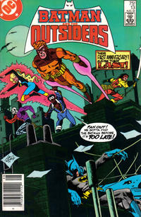 Cover Thumbnail for Batman and the Outsiders (DC, 1983 series) #13 [Newsstand]