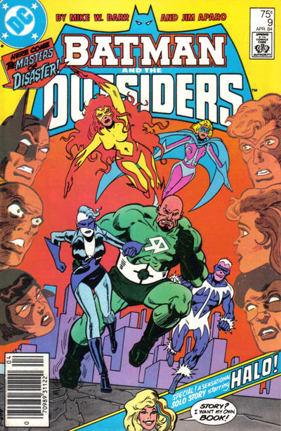 Cover for Batman and the Outsiders (DC, 1983 series) #9 [Newsstand]