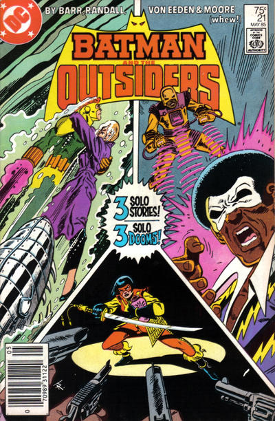 Cover for Batman and the Outsiders (DC, 1983 series) #21 [Direct]