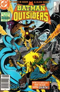 Cover Thumbnail for Batman and the Outsiders (DC, 1983 series) #22 [Newsstand]