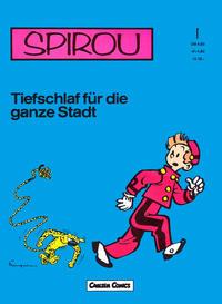 Cover Thumbnail for Spirou (Carlsen Comics [DE], 1982 series) #1 - Tiefschlaf für die ganze Stadt
