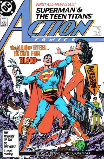Cover for Action Comics (DC, 1938 series) #584 [Newsstand]