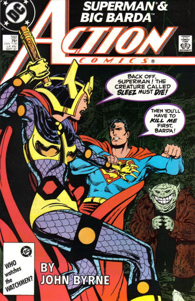 Cover for Action Comics (DC, 1938 series) #592 [Direct]
