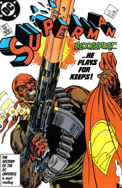 Cover for Superman (DC, 1987 series) #4 [Newsstand]