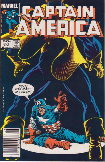 Cover for Captain America (Marvel, 1968 series) #296 [Newsstand Edition]
