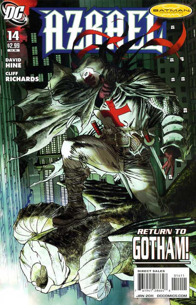 Cover for Azrael (DC, 2009 series) #14