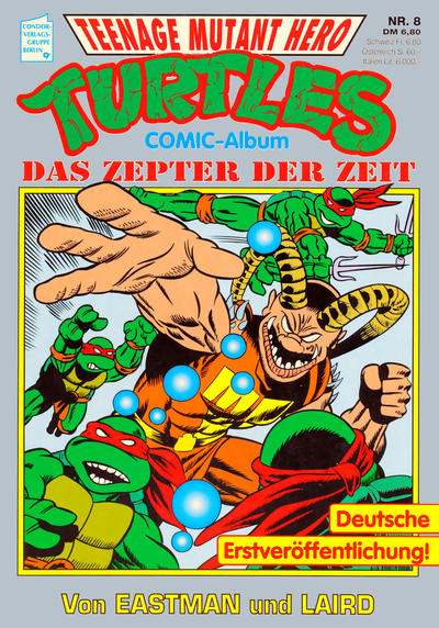 Cover for Teenage Mutant Hero Turtles (Condor, 1991 series) #8