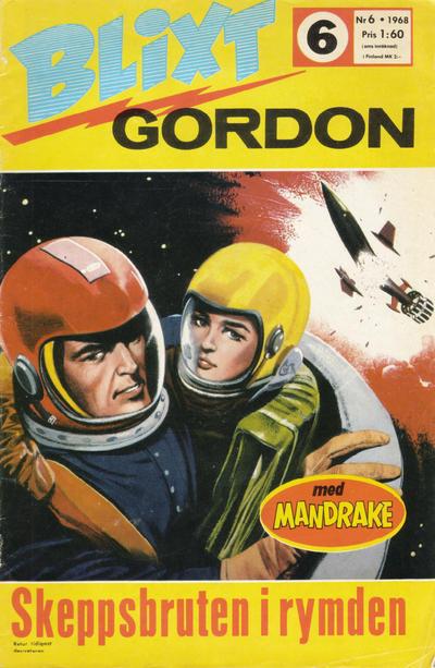 Cover for Blixt Gordon (Semic, 1967 series) #6/1968
