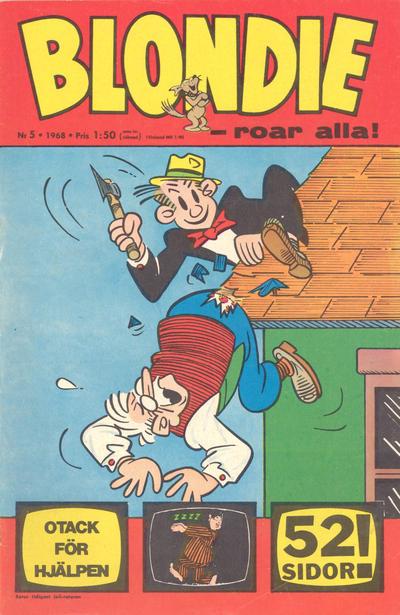 Cover for Blondie (Semic, 1963 series) #5/1968