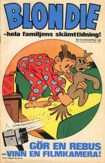 Cover for Blondie (Semic, 1963 series) #5/1972