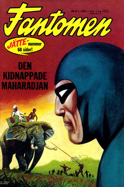 Cover for Fantomen (Semic, 1963 series) #4/1967
