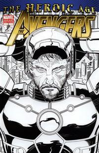 Cover Thumbnail for Avengers (Marvel, 2010 series) #4 [Romita Jr.'s Inked Variant Cover]