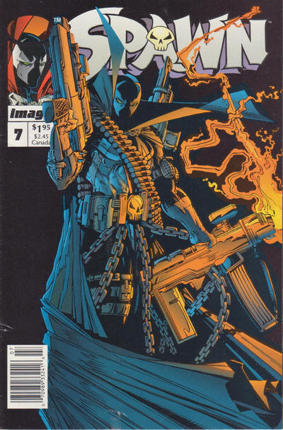 Cover for Spawn (Image, 1992 series) #7 [Newsstand Edition]