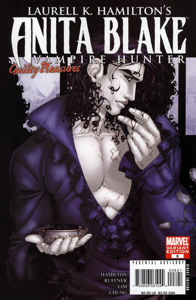 Cover for Anita Blake: Vampire Hunter in Guilty Pleasures (Marvel, 2006 series) #8 [Variant Cover]