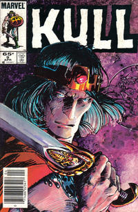 Cover Thumbnail for Kull the Conqueror (Marvel, 1983 series) #9 [Newsstand Edition]