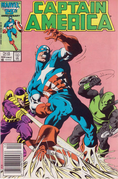 Cover for Captain America (Marvel, 1968 series) #324 [Direct Edition]