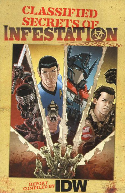Cover for Classified Secrets of Infestation (IDW, 2010 series)