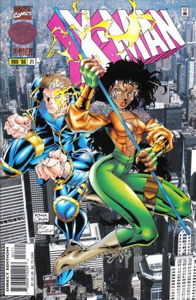 Cover for X-Man (Marvel, 1995 series) #21 [Australian Price Variant]