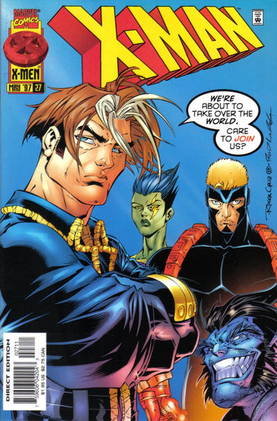 Cover for X-Man (Marvel, 1995 series) #27 [Direct Edition]